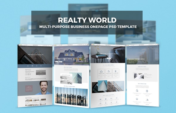 Realty World | Multi-Purpose Onepage Business PSD Template - Business Corporate