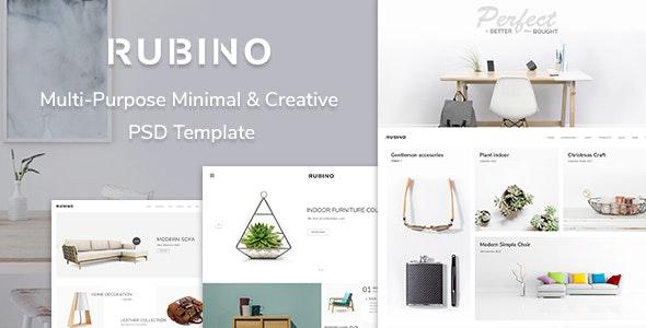 Rubino - Minimal & Creative PSD Template - Portfolio Creative