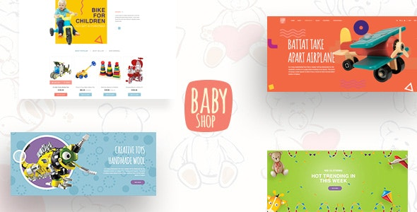 Babyshop - Beautiful PSD Template for Baby Stores - Children Retail