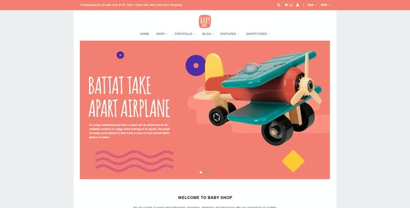 Babyshop - Beautiful PSD Template for Baby Stores