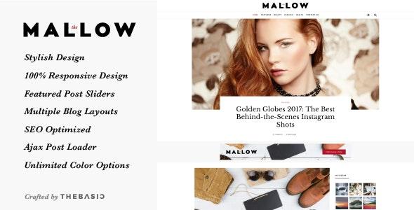 Mallow -  Lifestyle Blog & Magazine WordPress Theme - Blog / Magazine WordPress