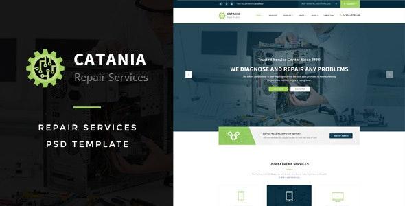 Catania - Computer Repairs PSD Template - Business Corporate