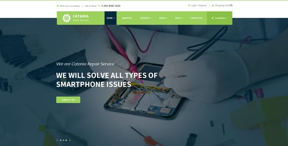 Catania - Computer Repairs PSD Template