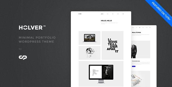 Holver - Minimal Portfolio WordPress Theme - Portfolio Creative
