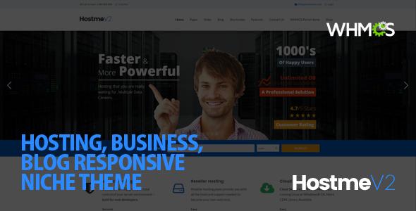 Hostme v2 Responsive WordPress Theme - Hosting Technology