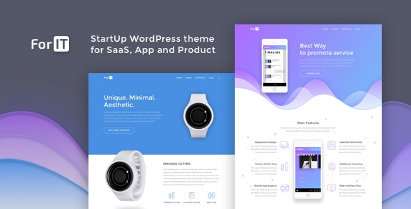 ForIT – StartUp WordPress theme for Software, App and Product - Technology WordPress