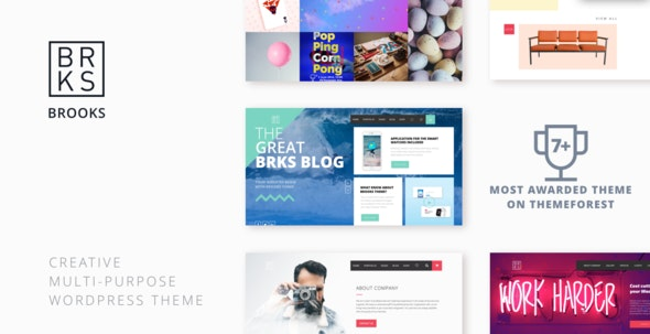 Brooks WP – Creative Multi-Purpose WordPress Theme - Creative WordPress