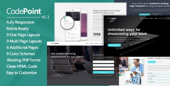 CodePoint - Premium Multi-Purpose Landing Page - Landing Pages Marketing