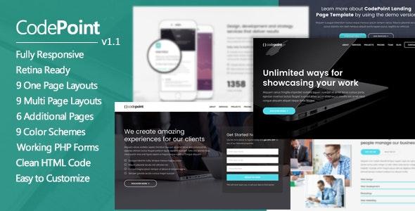 CodePoint - Premium Multi-Purpose Landing Page - Landing Pages Marketing