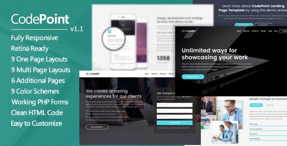 CodePoint - Premium Multi-Purpose Landing Page