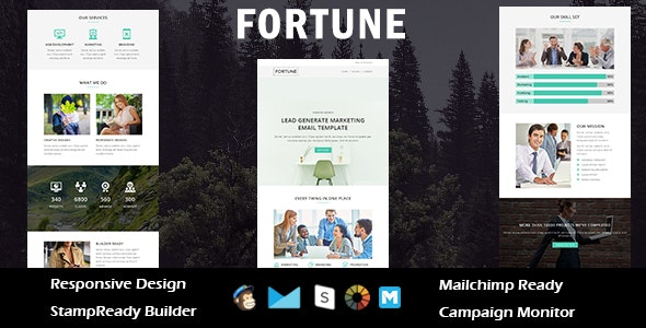 FORTUNE - Multipurpose Responsive Email Template + Stampready Builder - Email Templates Marketing