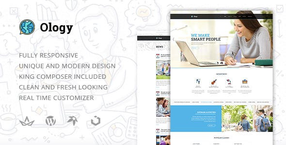 Ology — Classes for Primary, Secondary & High School Education WordPress Theme