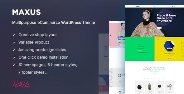 Maxus - Multipurpose eCommerce WordPress Theme