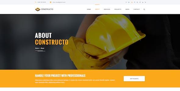 Construcdo - Construction, Building & Renovation Html5 Template