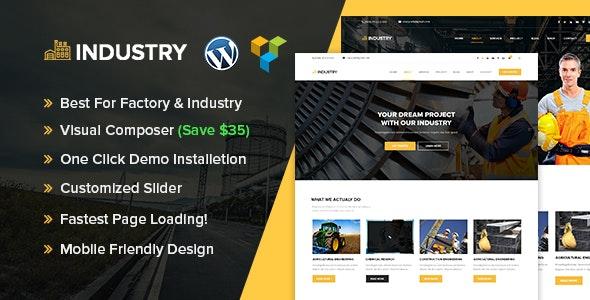 Industry - Industrial & Factory WordPress theme - Corporate WordPress