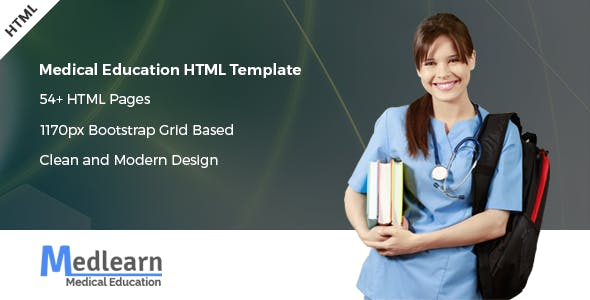 Medlearn - Medical Education HTML Template