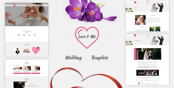 Love & We - Wedding HTML Template