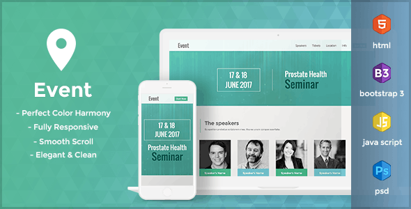 Event - HTML Landing Page Template - Landing Pages Marketing