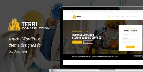 Terri - Construction WordPress Theme - Business Corporate