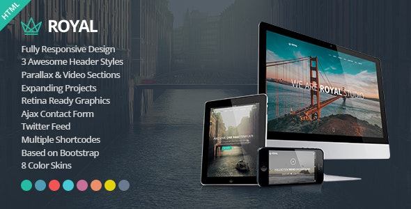Royal - Responsive One Page Parallax Template - Creative Site Templates