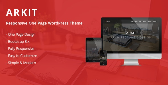 Arkit - Responsive One Page WordPress Theme - Portfolio Creative