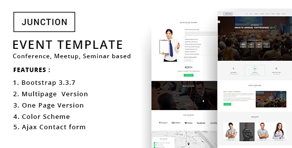 Junction - Event Meeting Conference Business Template - Events Entertainment
