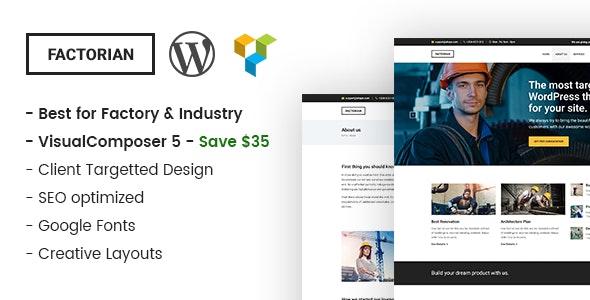 Factorian - Minimal Industry WordPress Theme - Business Corporate