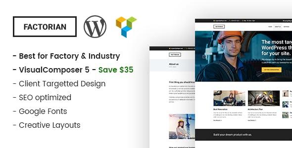 Factorian - Minimal Industry WordPress Theme