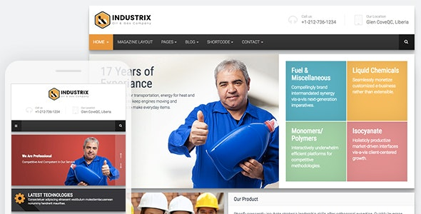 Industrix || Industrial HTML5 Bootstrap Responsive Website Template - Site Templates