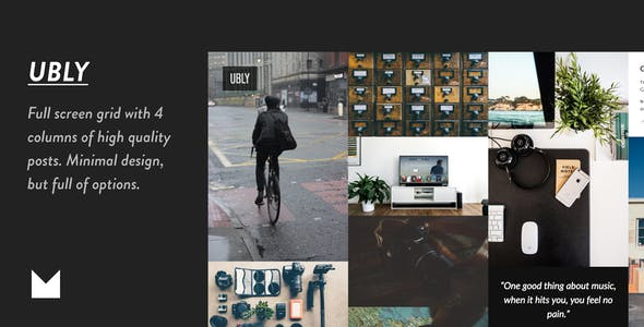 Download Ubly - Responsive Full Screen Grid Theme