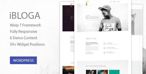 iBloga — Multipurpose Blog Template for creative professions - Personal Blog / Magazine