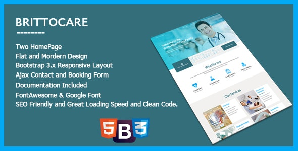 BrittoCare - Responsive Medical and HealthCare Template - Health & Beauty Retail
