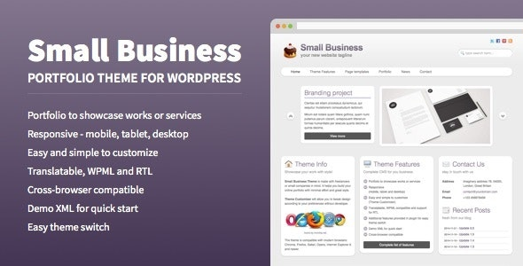 Small Business - Portfolio Theme for WordPress - Business Corporate