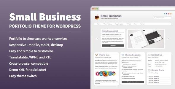 Small Business - Portfolio Theme for WordPress - Business Corporate