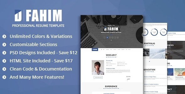Hired - Professional Resume Template - Personal Muse Templates