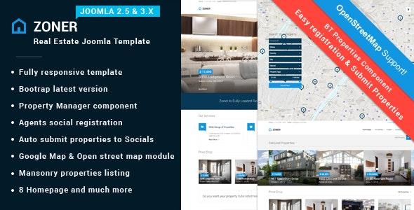 Zoner | Real Estate Joomla Theme - Joomla CMS Themes