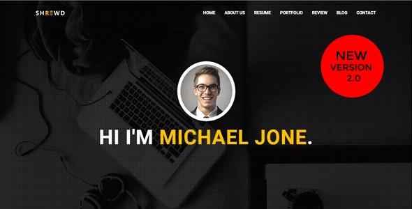 Shrewd - Personal Portfolio Template. - Personal Site Templates