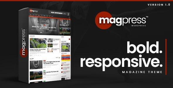 Magpress - Bold News & Magazine WordPress Theme - News / Editorial Blog / Magazine