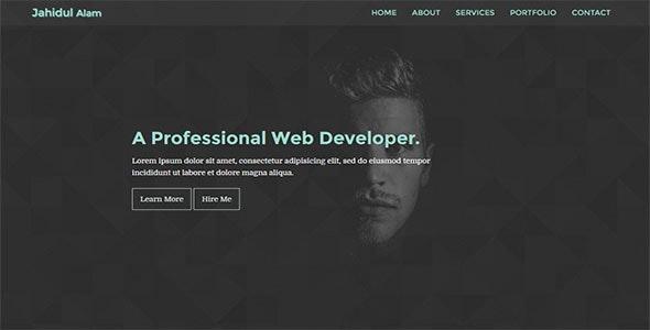 Solo-Personal Portfolio Template - Personal Site Templates