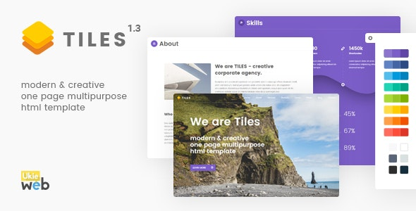 Tiles - Modern & Creative One Page Multipurpose Html Template - Experimental Creative