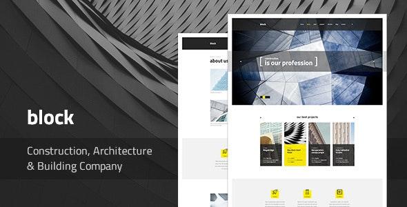 Block — Construction, Architecture, Building Company PSD Template - Business Corporate