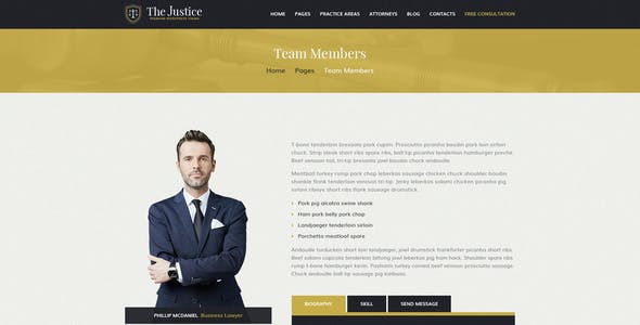 Justice - PSD template for Law Firm