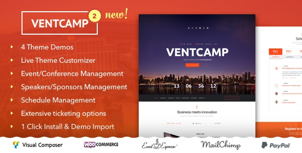 Ventcamp - Event and Conference Theme - Events Entertainment