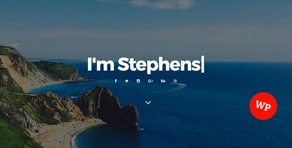 Stephens - Personal Portfolio WordPress Theme - Creative WordPress
