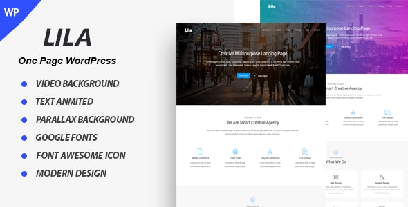 Lila - One Page Parallax - Corporate WordPress
