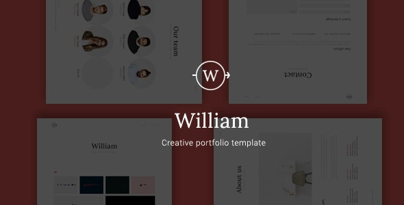 William - Creative Portfolio Template - Creative Site Templates