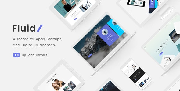 Fluid - Startup and App Landing Page Theme - Software Technology