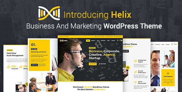 Helix - Business And Marketing WordPress Theme - Business Corporate