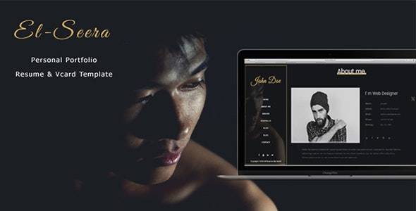- El-Seera - One Page Personal Portfolio & Vcard Template - Personal Site Templates