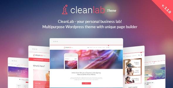 CleanLab - Responsive WordPress Theme + Page builder - Creative WordPress